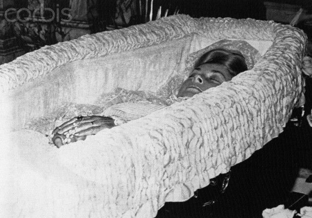 bing crosby in casket princess grace in coffin