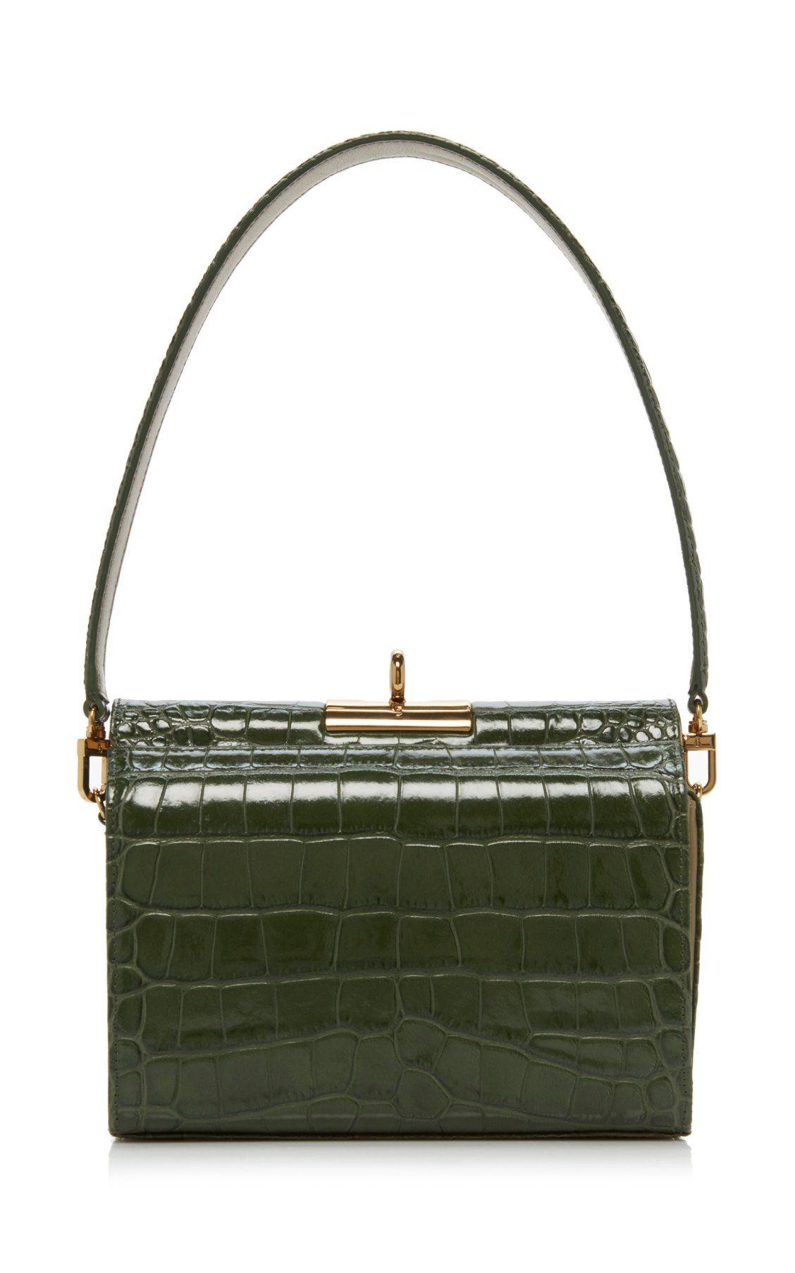 c09425467ec45 Gemma Croc-Effect Leather Bag by gu de