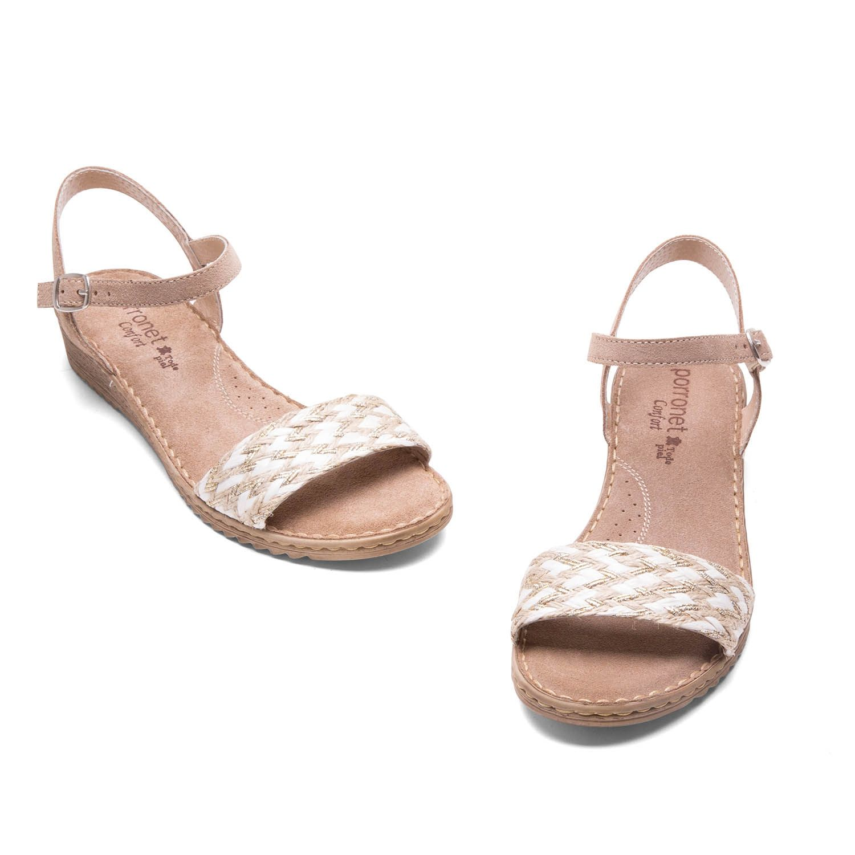 Boutique en ligne 733e8 8da34 Sandalias con pala combinada blanco taupe cora | Mi Estilo ...