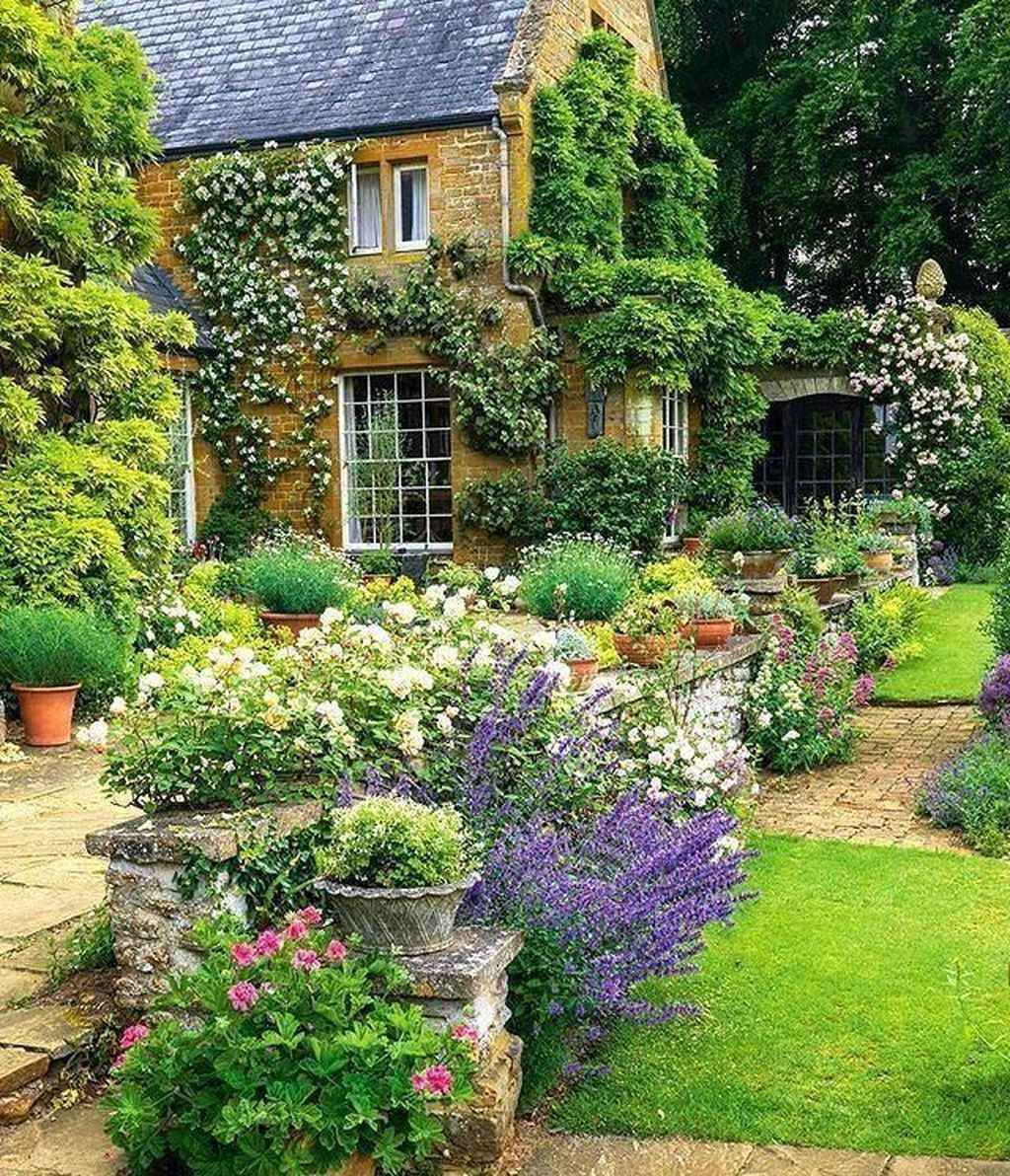 22 Incredible Budget Gardening Ideas: 89 Beautiful Front Yard Cottage Garden Inspiration Ideas