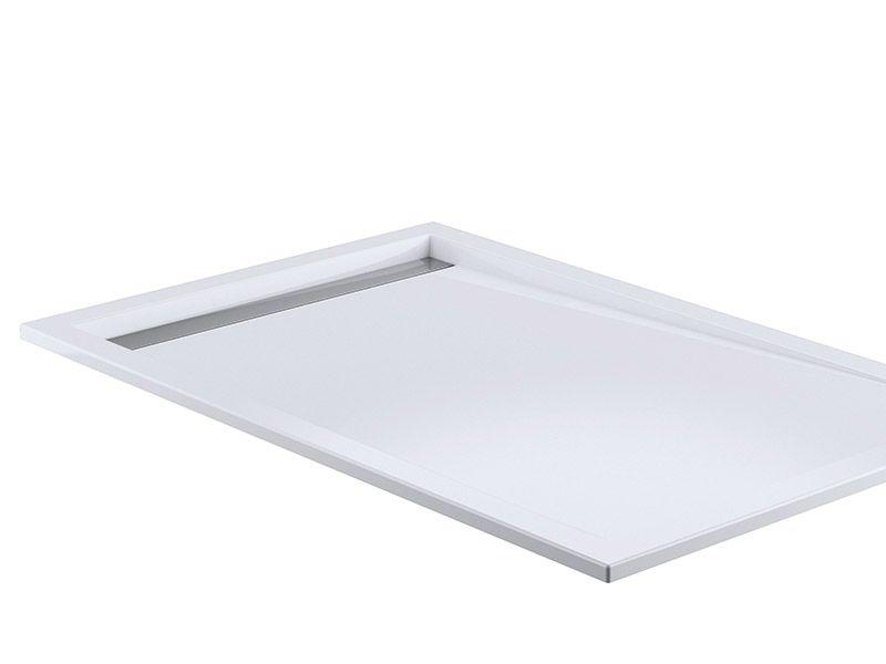 hsk acryl duschwanne super flach mit integrierter ablaufrinne schmal bild 1 badezimmer. Black Bedroom Furniture Sets. Home Design Ideas
