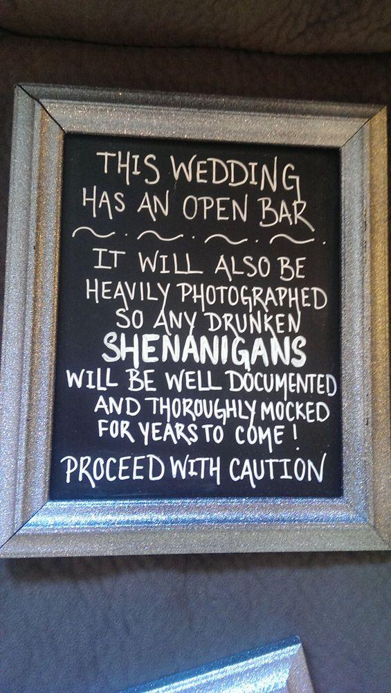 Fun Glittery Wedding Sign