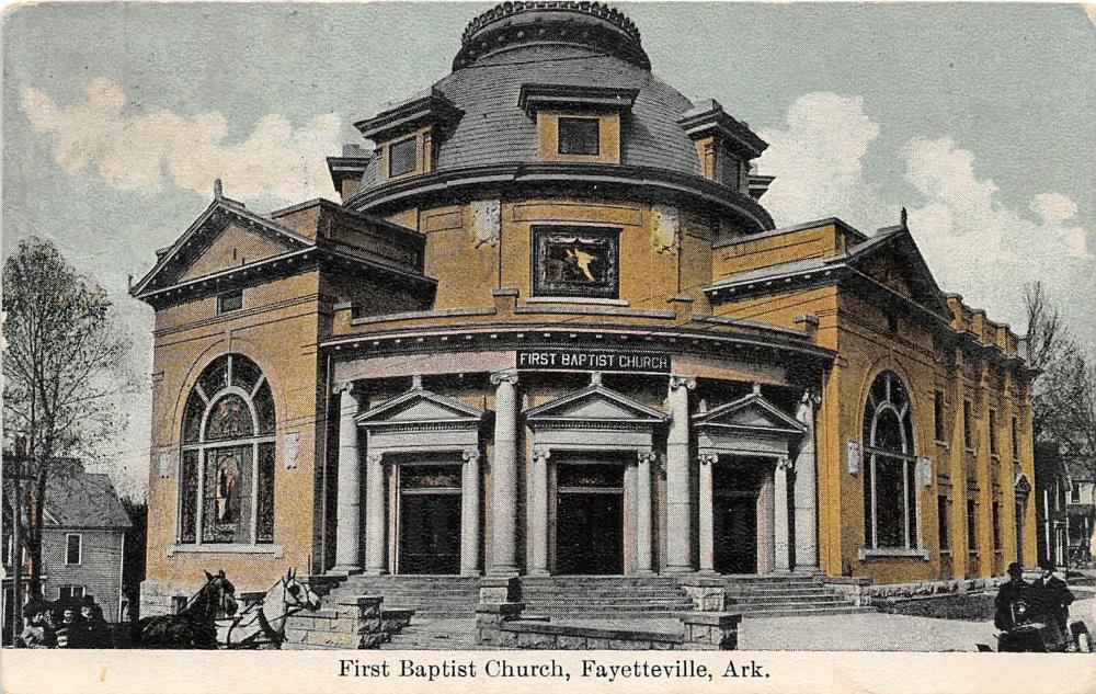 F58/ Fayetteville Arkansas Postcard c1910 First Baptist