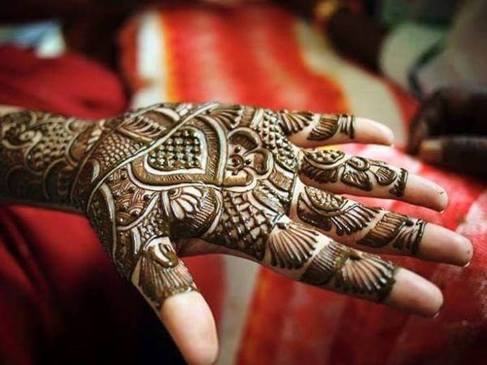 Mehndi Front Hand : Bridal mehndi designs for front hand