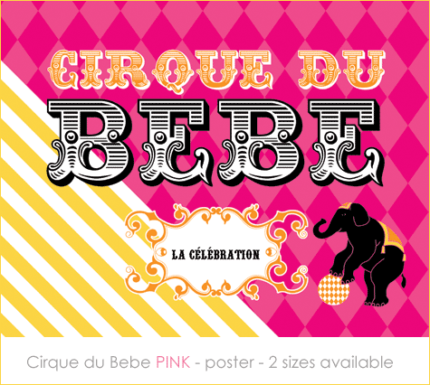 free printables cirque du bebe pink birthday party ideas