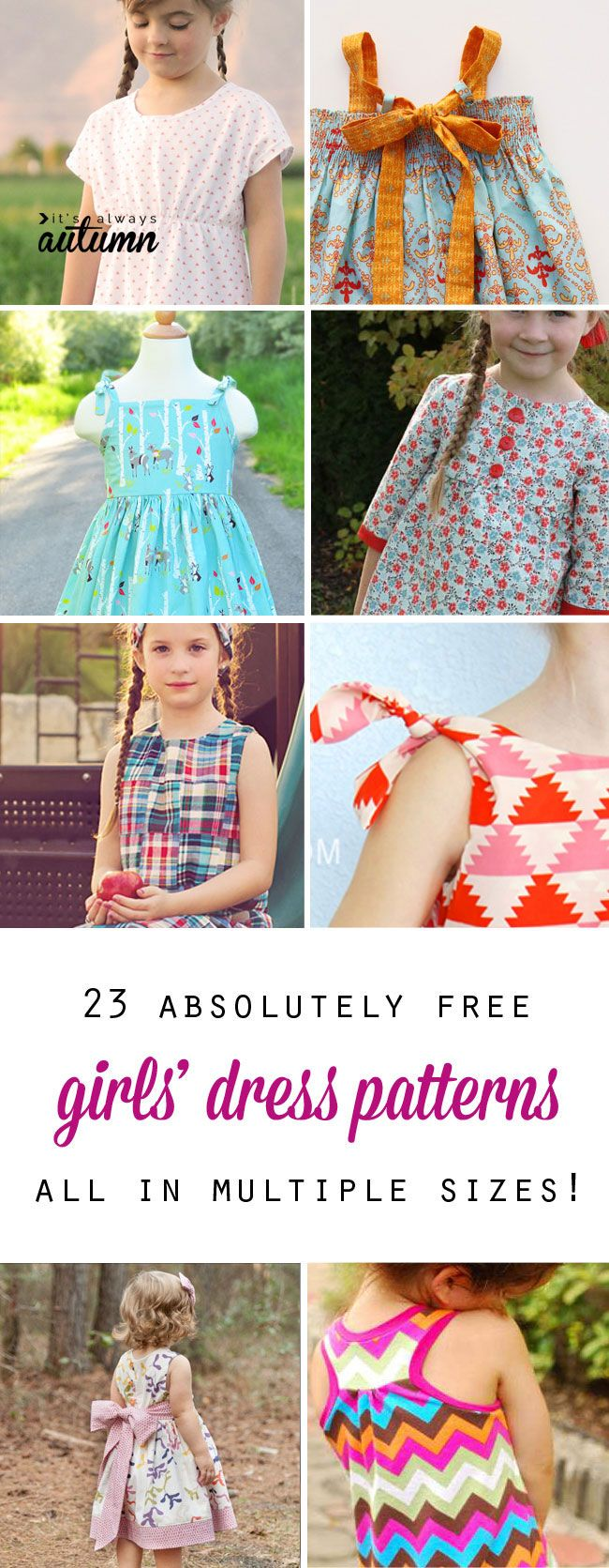 Free girls dress patterns charity sewing girl dress patterns free girls dress patterns charity sewing its always autumn huge collection of free girls dress patterns in multiple sizes great for personal or jeuxipadfo Image collections