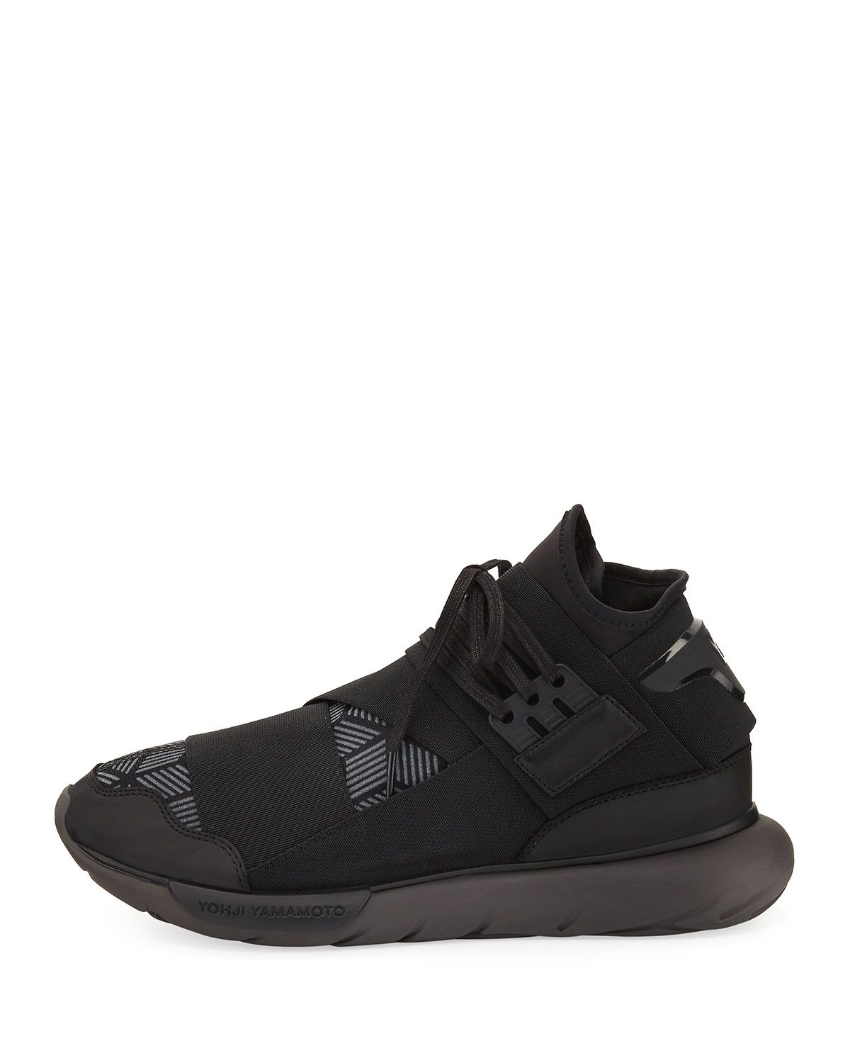 59513c394ff56 Y-3 Qasa Mens Reflective Print High-Top Trainer Sneaker