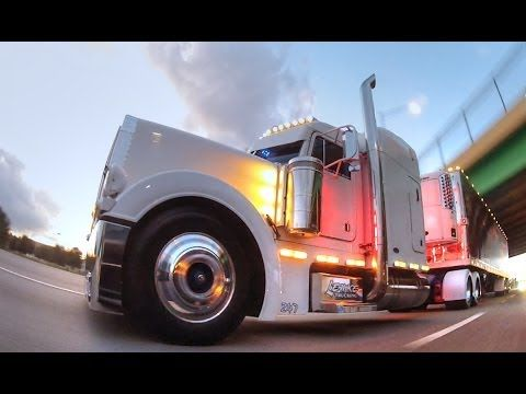 Peterbilt Pullin Out Of Truck World In Youngstown Us Trailer Will Rent Used Trailers In Any Condition To Or From You Trucks Big Rig Trucks Peterbilt Trucks