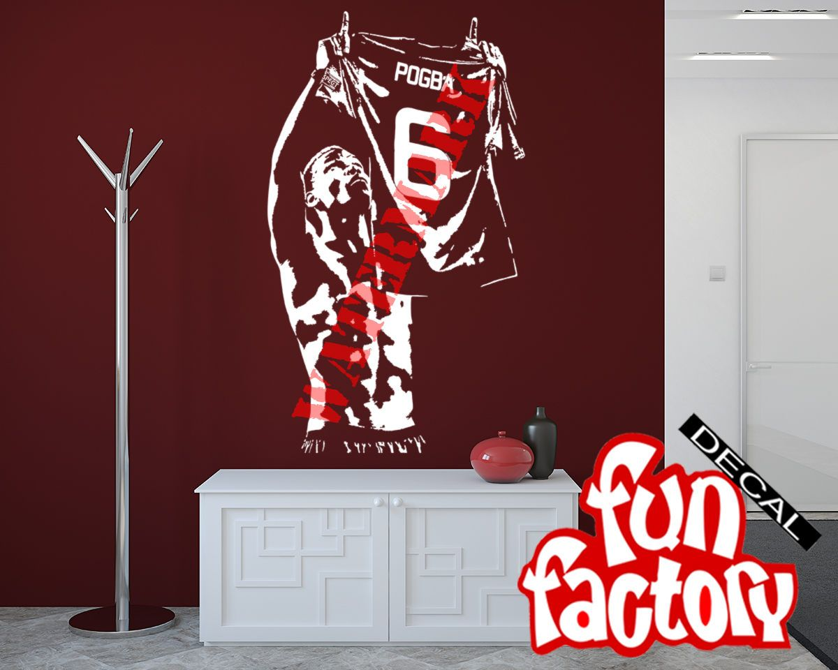 78 best wall decal images on pinterest paul pogba wall decal sticker manchester united fc football soccer player france jersey 0064s by fundecalfactory amipublicfo Gallery