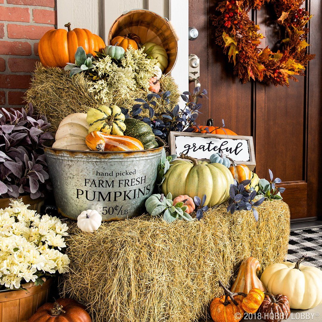 Who S Ready For Falling Leaves Crisp Autumn Evenings And Pumpkin Spice Everything Prepare For The S Fall Decorations Porch Fall Entryway Fall Outdoor Decor