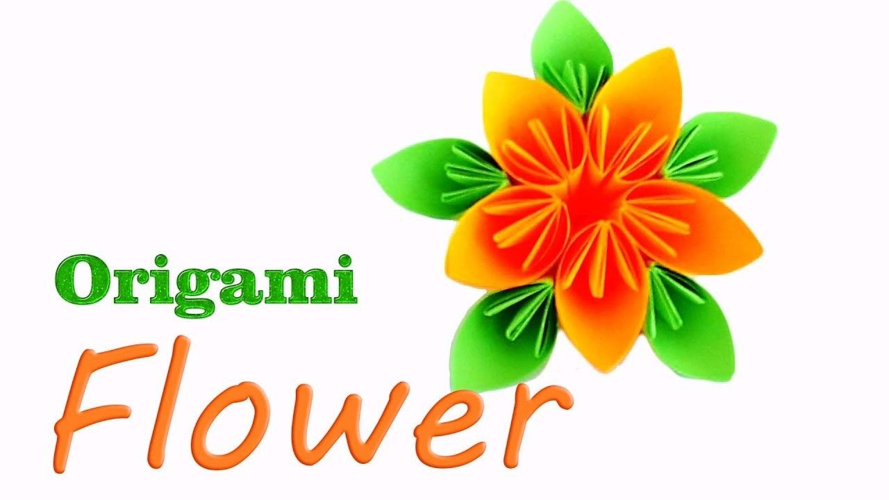 How To Make Origami Flower Origami For Beginners Papercraft