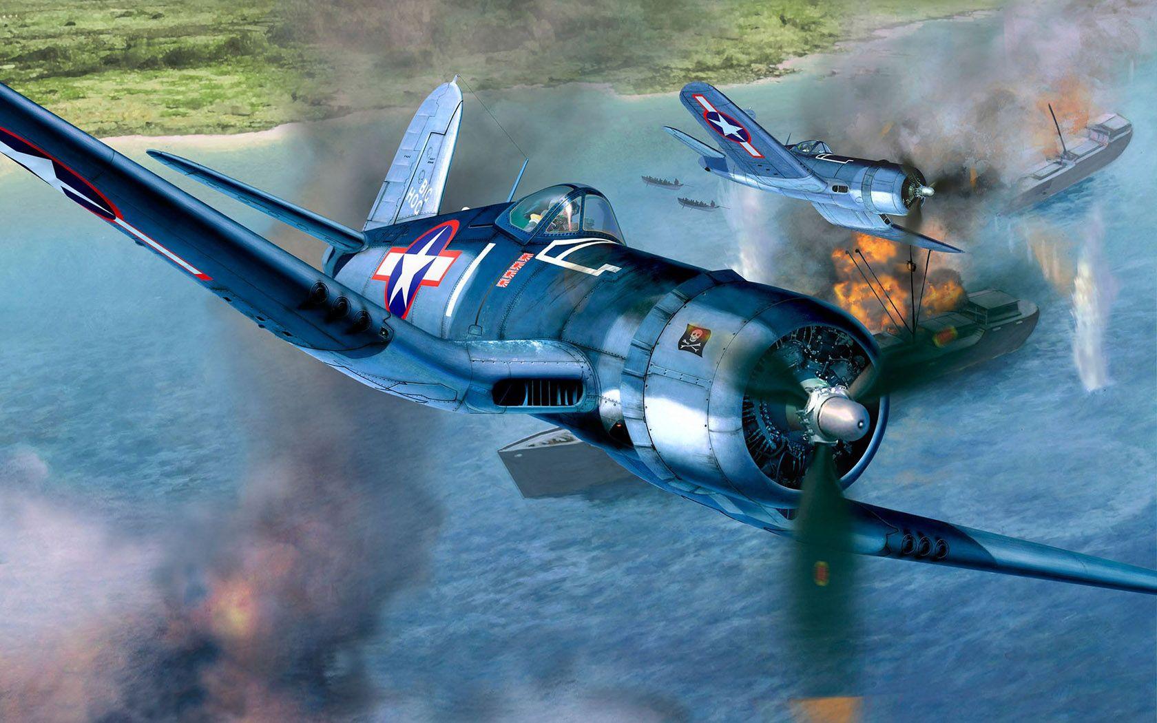 Обои Вторая мировая, F4u corsair, chance vought. Авиация foto 15
