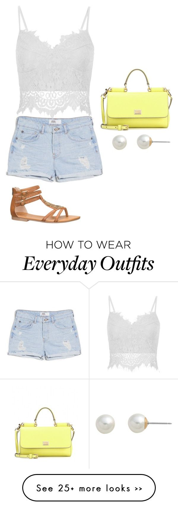 """Everyday summer outfit"" by ecullo on Polyvore"