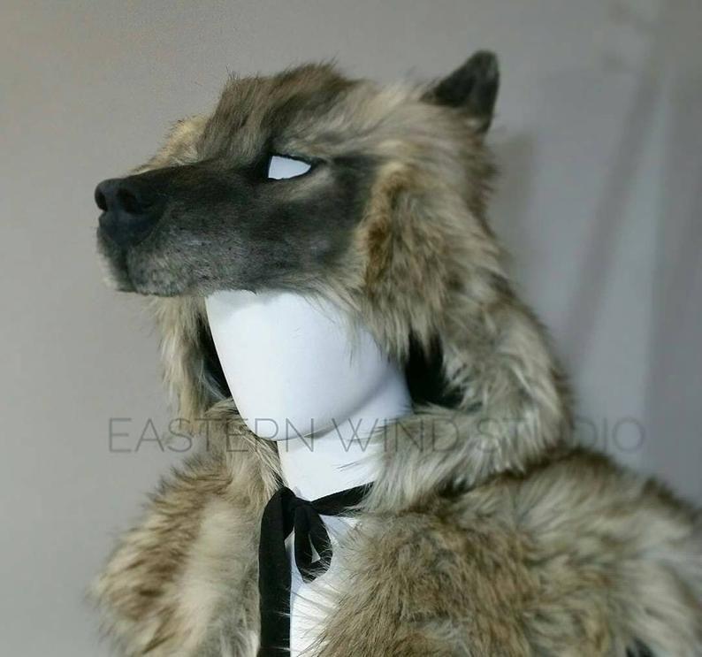 Coiffure de loup / Masque combo Full Body animal friendly | Etsy