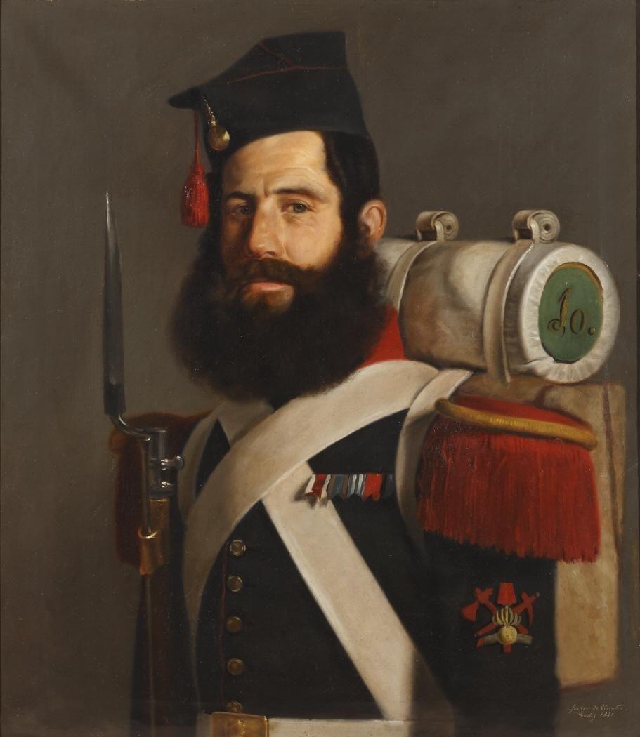 José Robles, gastador del regimiento de Murcia (Museo del Romanticismo de Madrid)