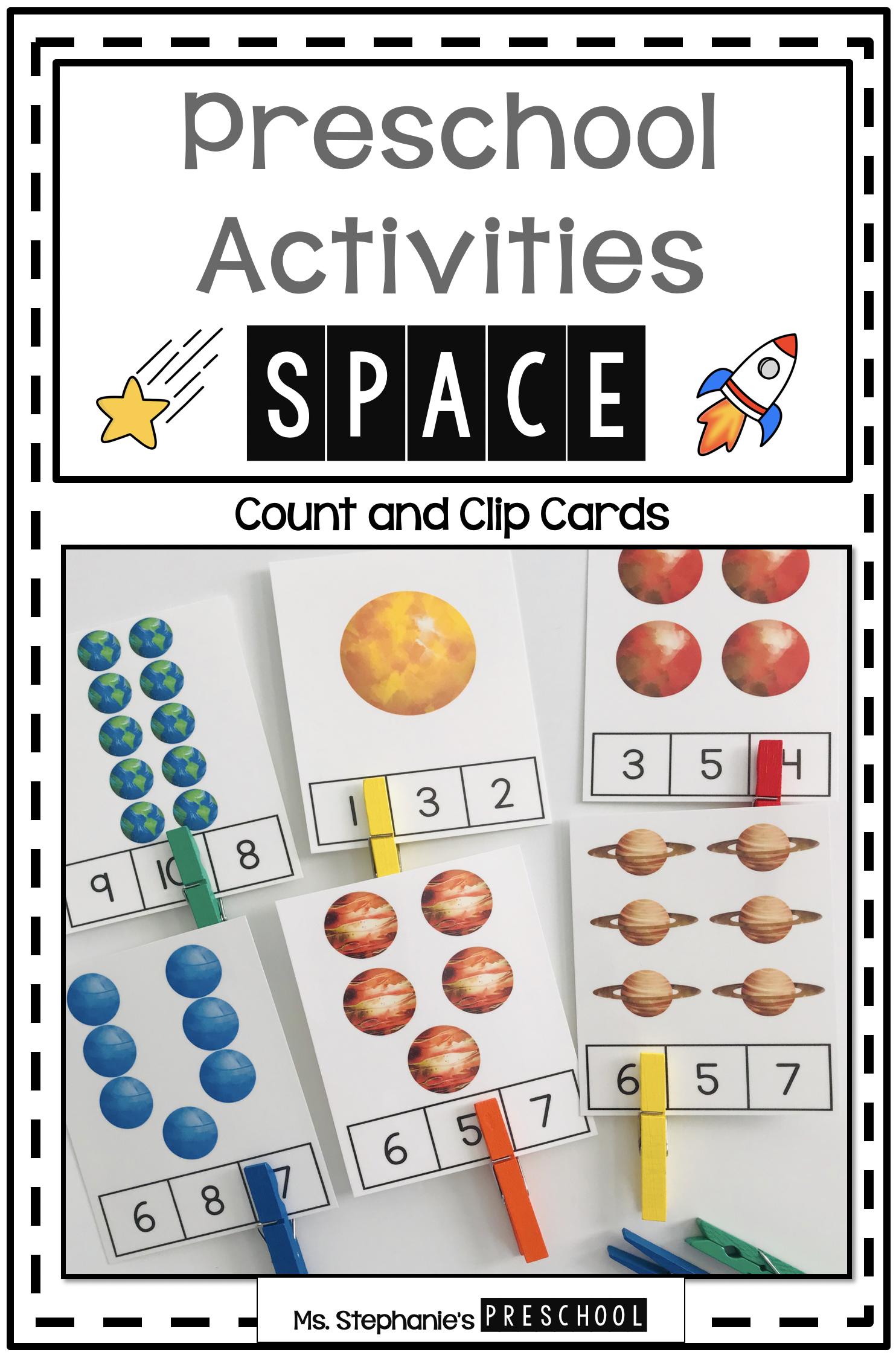 Space Preschool Activities In