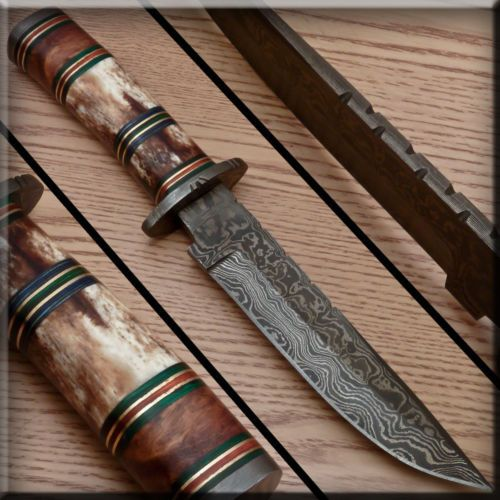pleasant cool knives. Marvelous RARE Awesome Custom Hand Forged Damascus Hunting Knife PT 826  eBay