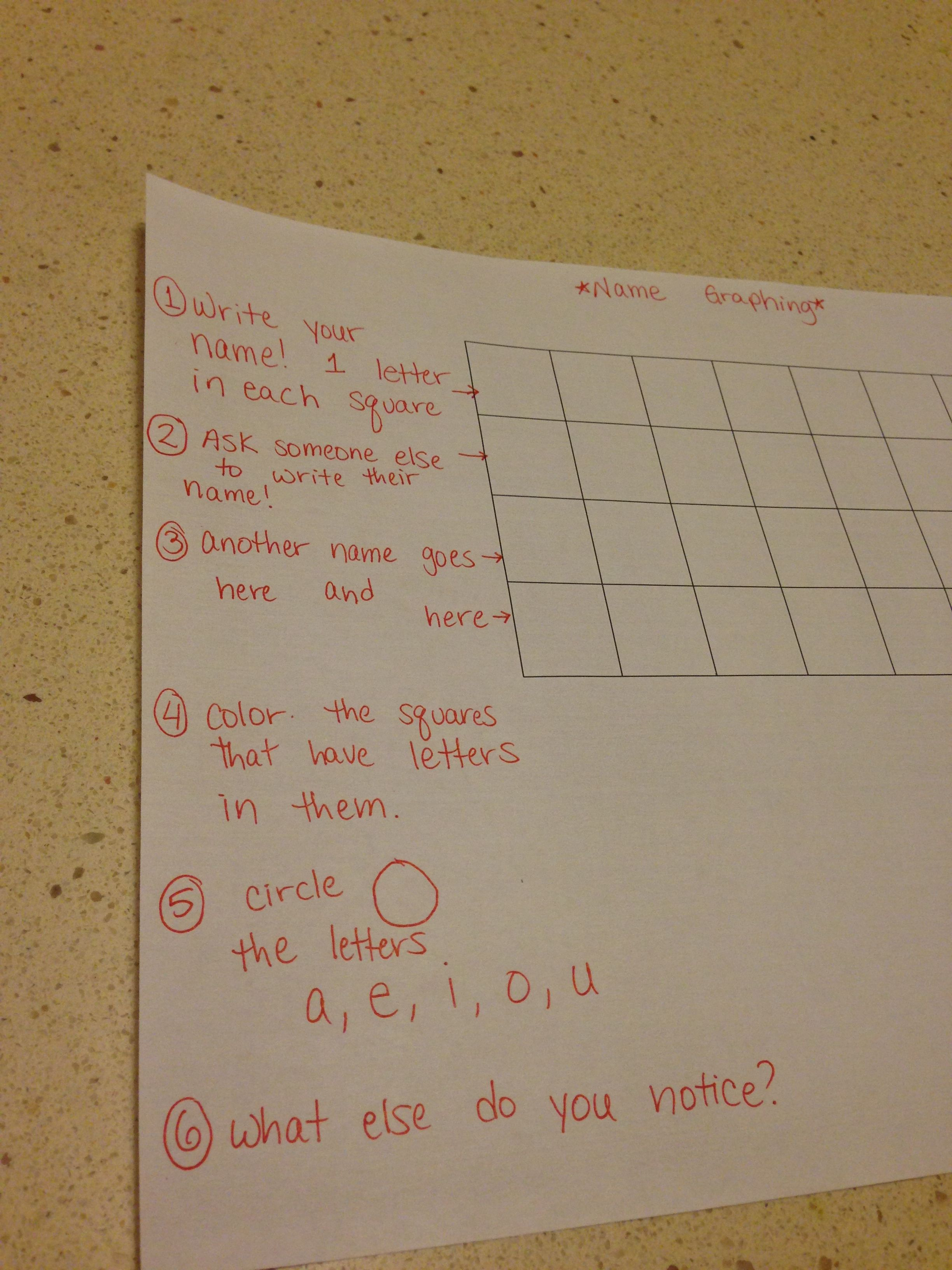 Name Graphing Worksheet Details Mine Idea From The