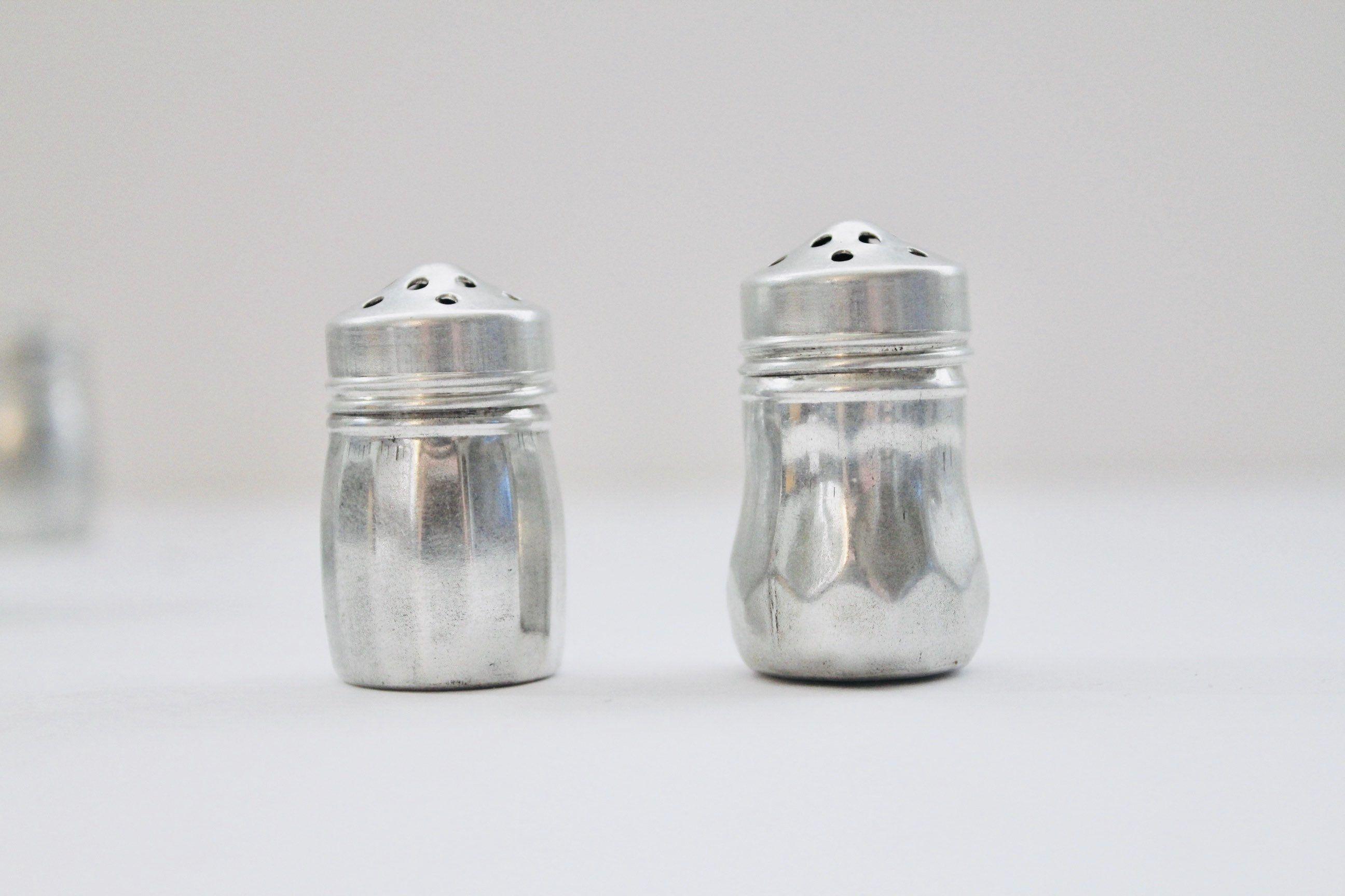 Set Of 12 Individual Vintage Salt Pepper Shakers Mini