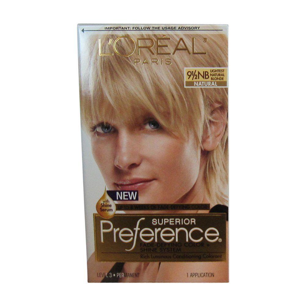 Pref Haircol 95nb Size 1ct Loreal Preference Hair Color Lightest
