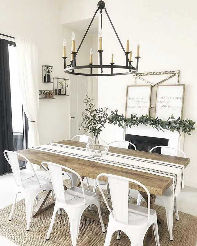 How to Add Rustic Style to Your Home #farmhousediningroom