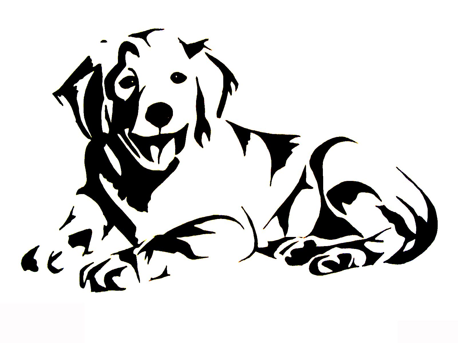 Golden Retriever Labrador Silhouette Animal Silhouette Dog