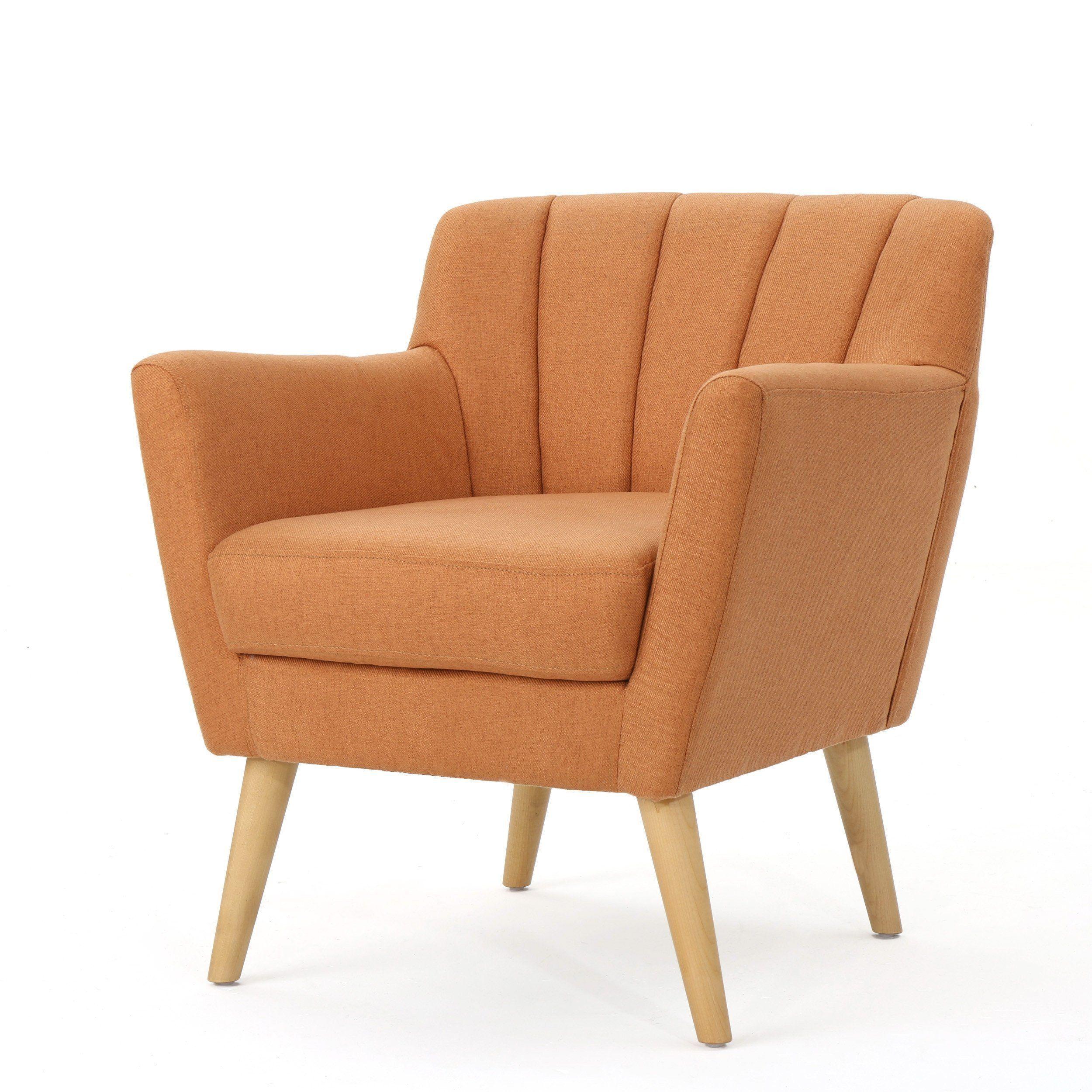 madelyn mid century modern fabric club chair mid century modern