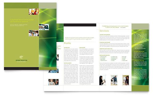 Internet Marketing Brochure Template Design StockLayouts - free pamphlet templates