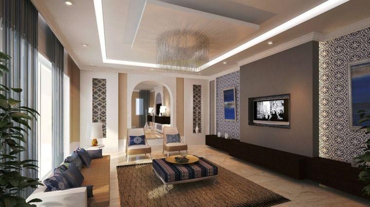 Salon moderne oriental d\'inspiration marocaine | Oriental, Salons ...