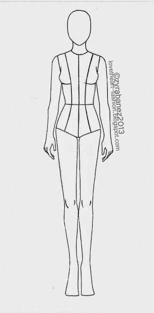 LOVEtHEART - Fashion Illustration: FASHION TEMPLATE | Drawing ...