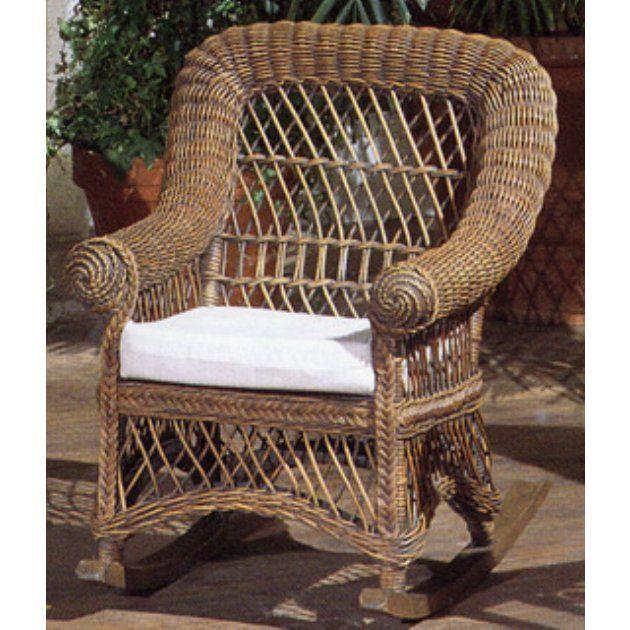 Childu0027s Wicker Rocking Chair With Cushion   Indoor Wicker Furniture At Wicker  Furniture