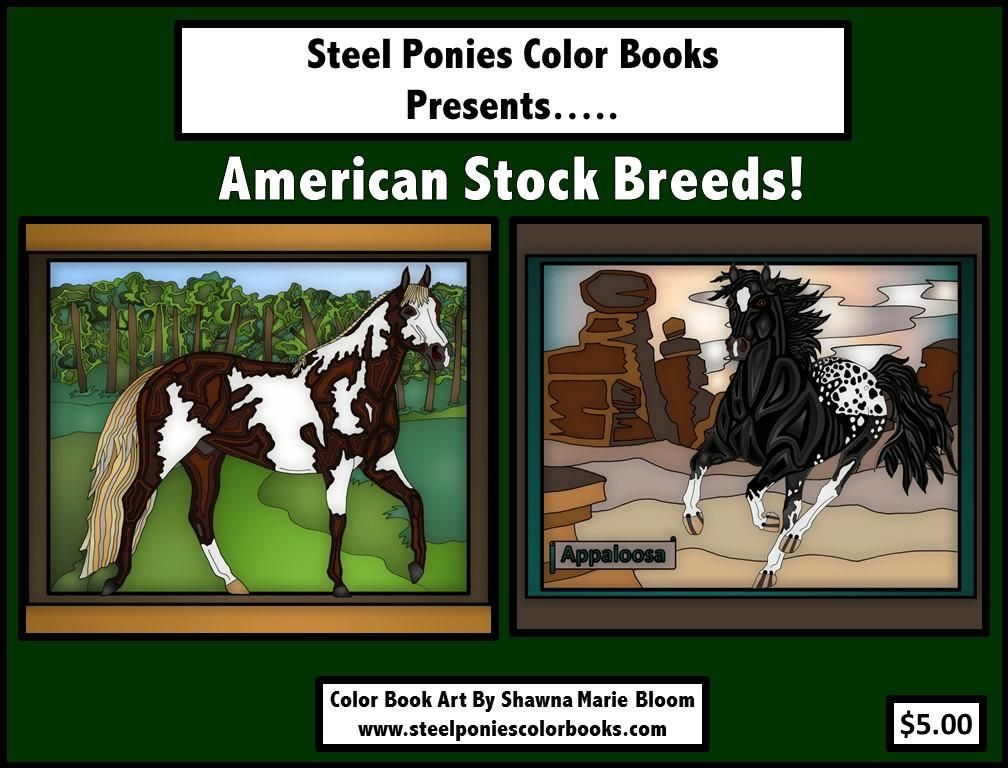 Horse Color Book American Stock Breeds Paint Horse Quarter Horse Appaloosa Horses American Paint Horse Horse Coloring Books Horse Coloring Pages
