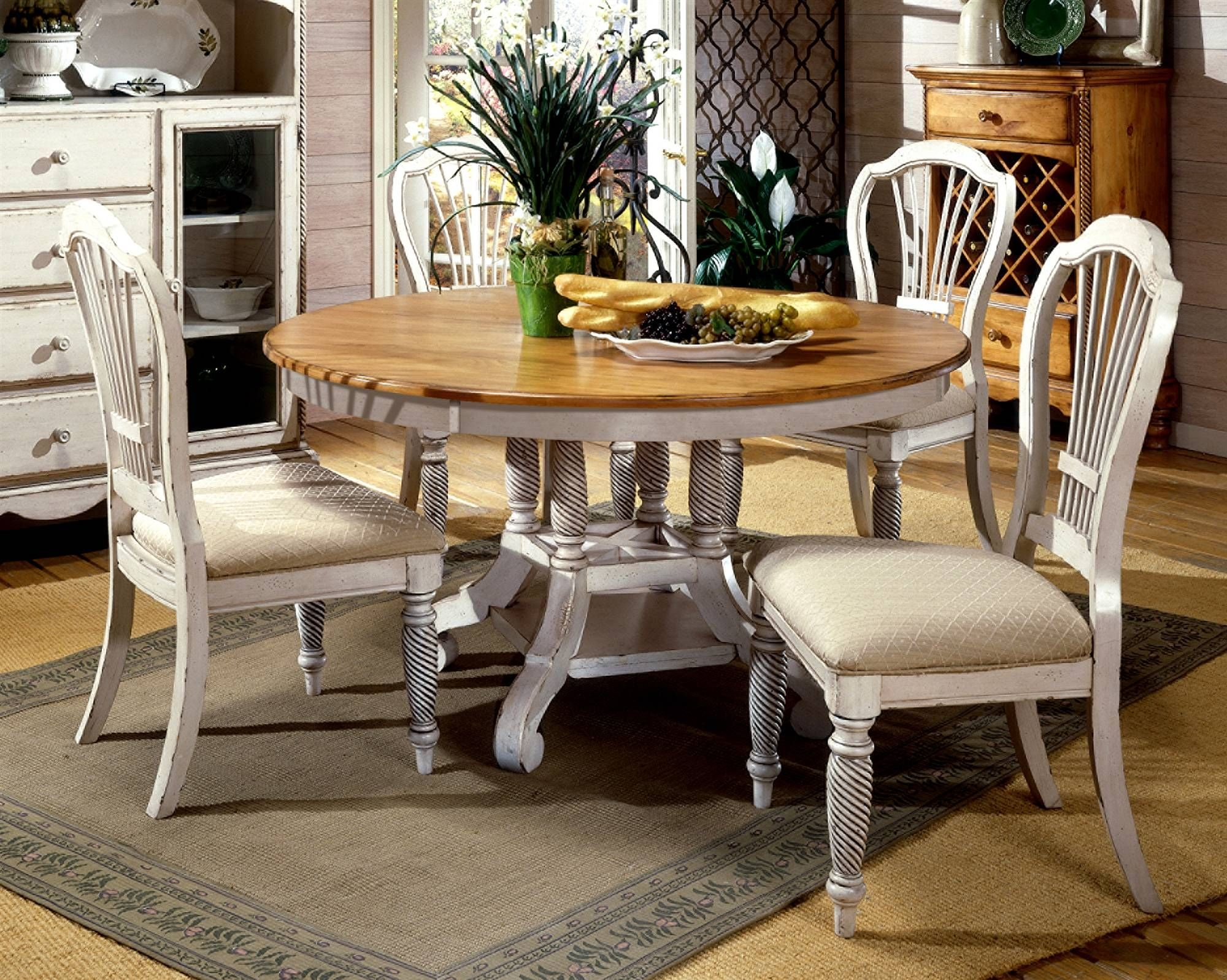 Round White Dining Room Table Set  Httpfmufpi  Pinterest Alluring White Dining Room Table Set Review