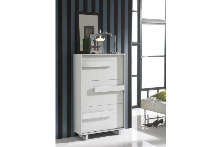 Zapatero de 3 puertas abatibles con un moderno diseo en color blanco  Merkamueble TodoEnOrden  Muebles zapateros  Shoe cabinet Tall