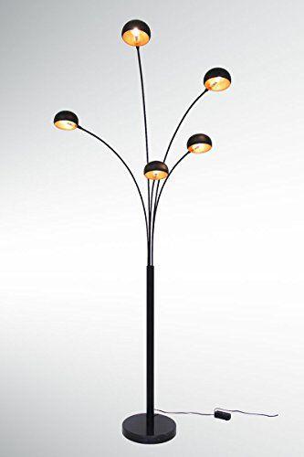 Grosse Five Fingers Bogenlampe Top Quality Mattschwarz Kupfer