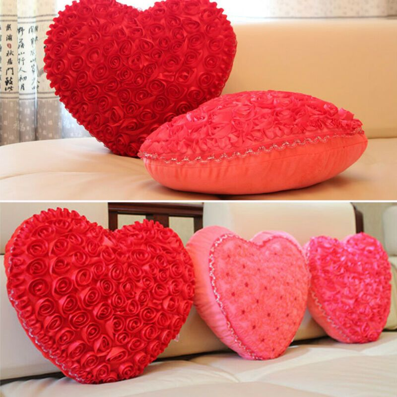Love Heart Shape Bed Sofa Chair Car Seat Cushion Pillow Wedding Gift Pillows Ebay Link Cushions On Sofa Plush Throw Pillows Decorative Sofa Throws
