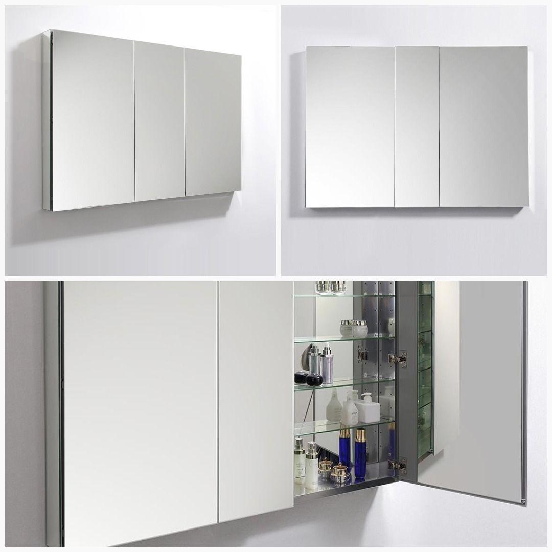 Fresca 50 Wide X 36 Tall Bathroom Medicine Cabinet W Mirrors Bathroom Cabinet 30 Vanity Cabin Bathroom Medicine Cabinet Tempered Glass Shelves Cabinet