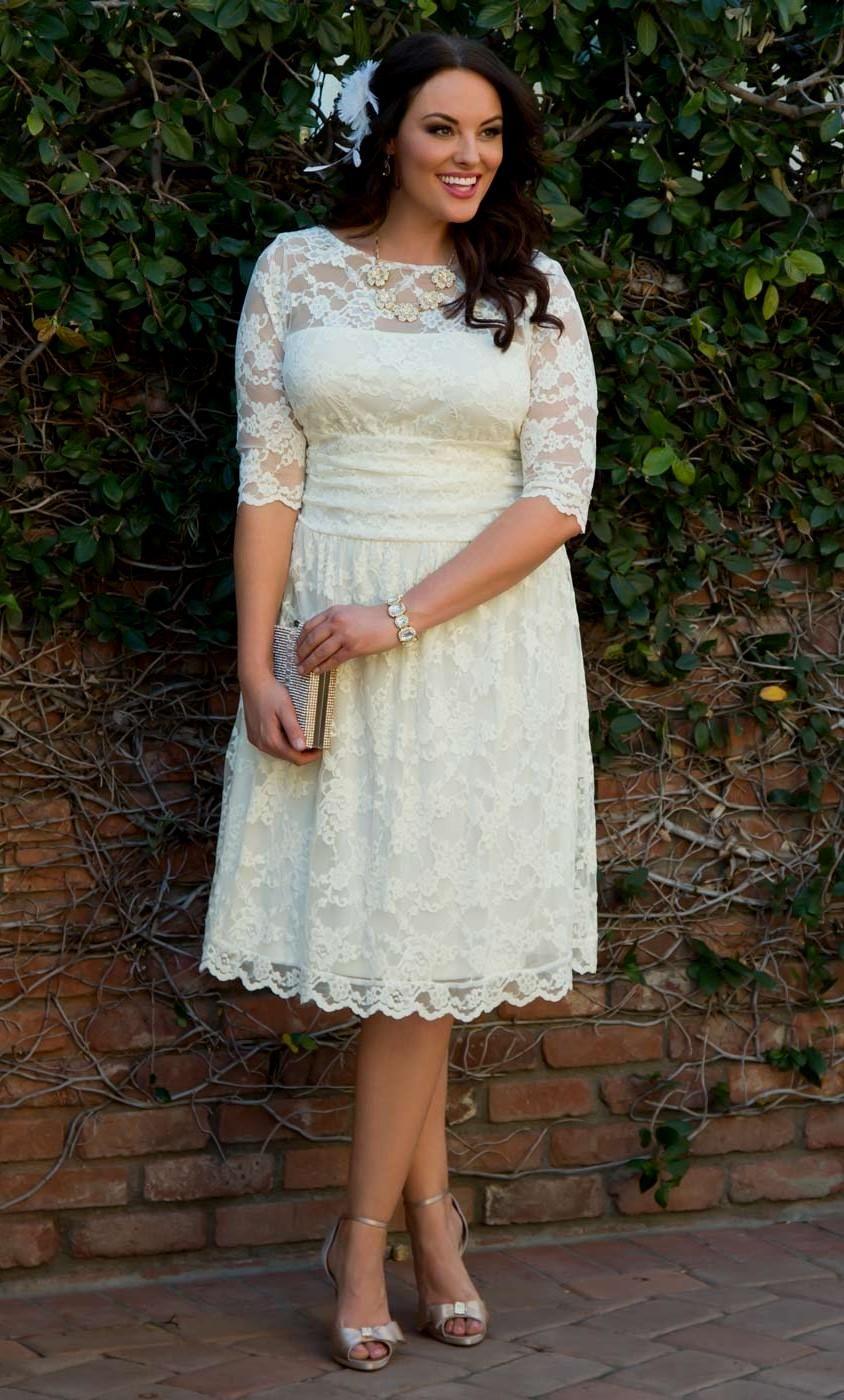 Women\'s Plus Size Wedding Dresses and Gowns | Kiyonna | Beach ...