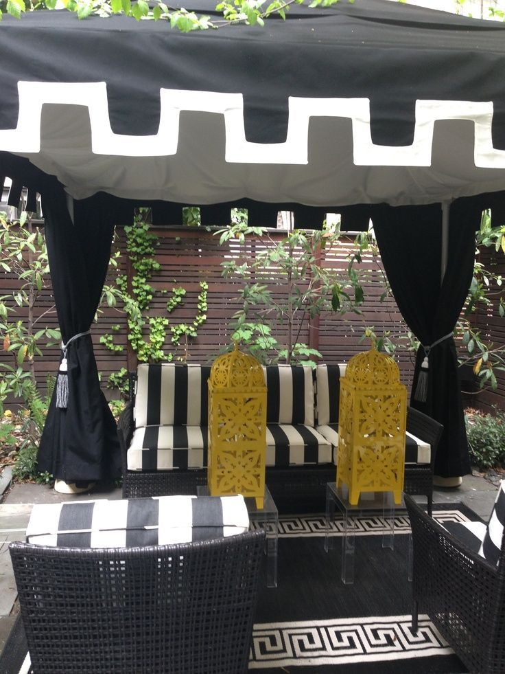 Black And White Cabana Styled By Tracy Stern White