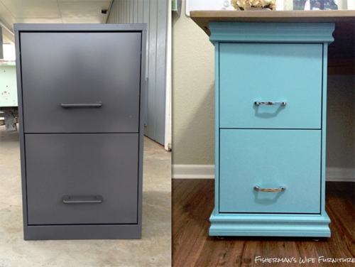 Schedario Ufficio Fai Da Te : Her filing cabinets were ugly so she did those before and after