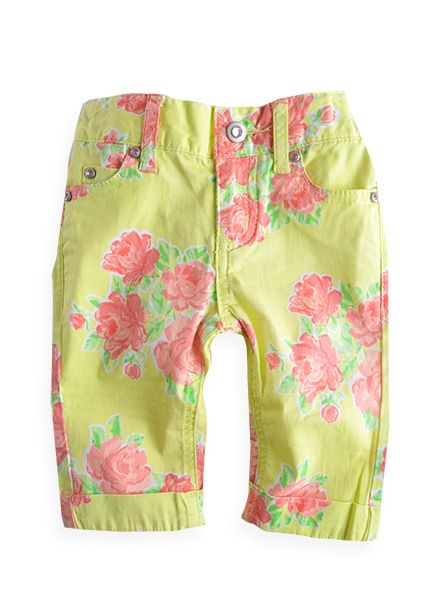 7a58be9f71 Little bear just picked out these pants online, but they don't have her  size! Pumpkin Patch - pants - length floral pants - - sour lemon - to 6