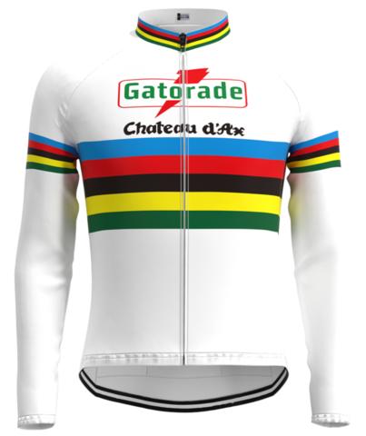 Thermal Fleece Polyester SMOKEY BEAR cycling jersey Long sleeve