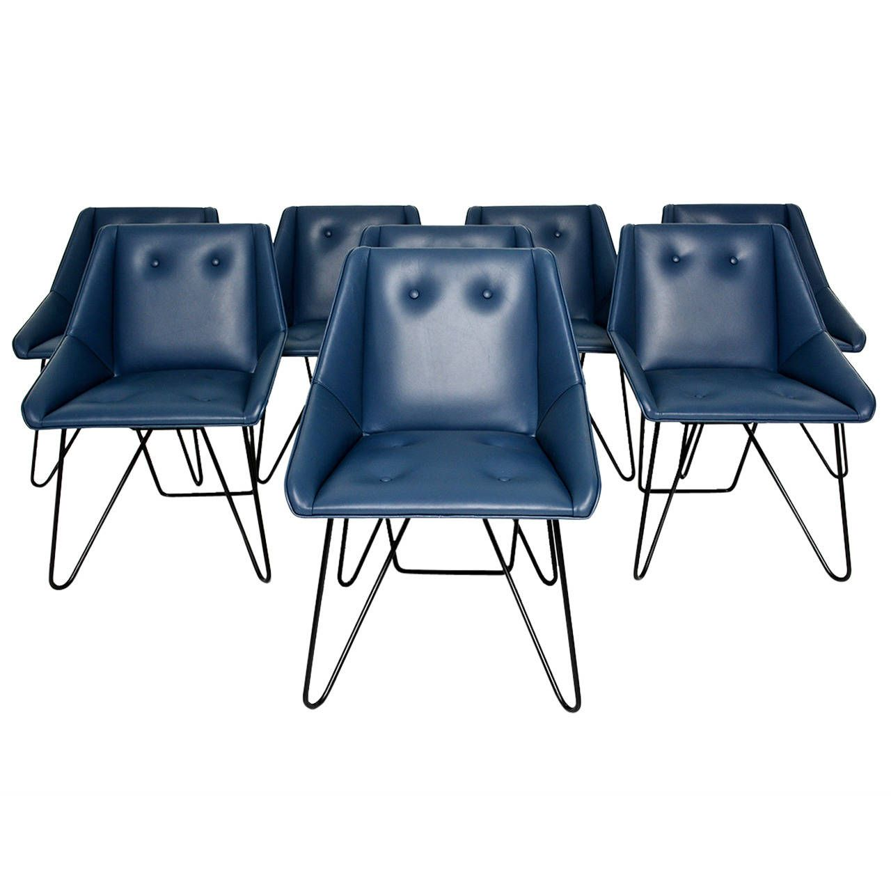 blue leather dining room chairs. Italian Blue Leather Chairs | 1stdibs.com Dining Room L