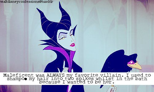 I didn't exactly shampoo my hair like that in the tub, but she's definitely my favorite Disney villain... so much class :P