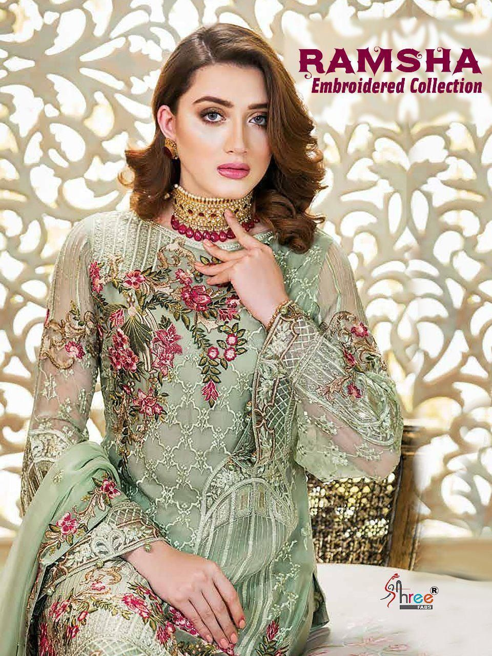 32aae60f64 Buy Shree Fab Ramsha Embrodred Collection Suit | Shree Fab in 2019 ...