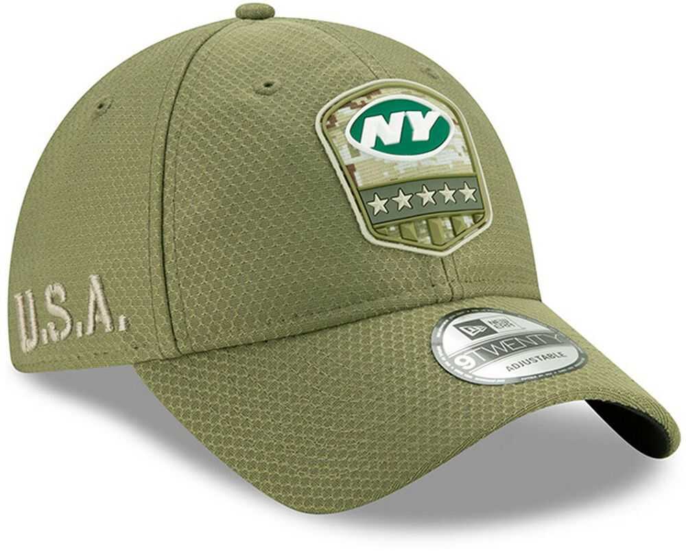 New york jets new era 920 nfl on field 2019 salute to