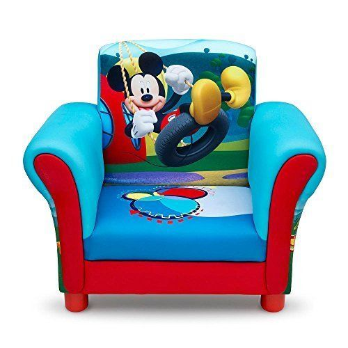 Upholstered Chair Toddler Armchair Kid Seat Disney Mickey Mouse Lounge Arm  Chair