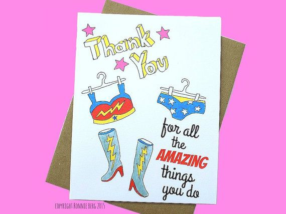 Funny Thank You Card, Thank You Card Funny, Friend Thank You - thank you note to friend