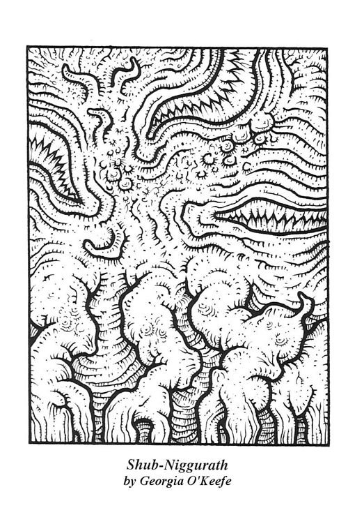 Cthulhu Coloring Book Shub Niggurath By Georgia O Keefe Coloring Books Cthulhu Lovecraft Cthulhu