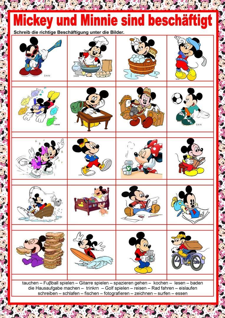 Bilderwörterbuch - Mikey und Minnie sind beschäftigt - Aktionen ...
